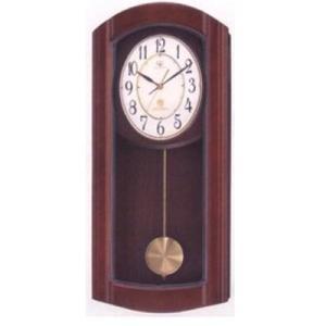 (今ならポイント最大37倍!)RHYTHM ハイグレード リズム 茶色半艶仕上げ  電波掛時計 RHG-M95 4MN475HG06|yosii-bungu