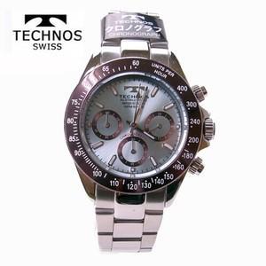 テクノス(TECHNOS)腕時計  クロノグラフ 10気圧防水 T4251AI アイスブルー|yosii-bungu