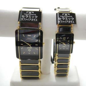 テクノス ペアウオッチ 腕時計 (TECHNOS) 3気圧防水 サファイアガラス T9137GB-T9796GB|yosii-bungu
