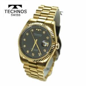 テクノス(TECHNOS) 腕時計 5気圧防水 T9604GB ブラック文字板 |yosii-bungu