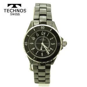 テクノス 腕時計 (TECHNOS)  ユニセックス(男女兼用) ブラックセラミックベルト付 T9438TB 2018新作モデル|yosii-bungu