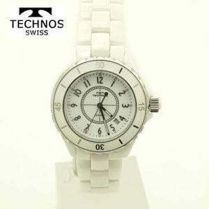 テクノス 腕時計 (TECHNOS)  ユニセックス(男女兼用) ホワイトセラミックベルト付 T9438TW 2018新作モデル|yosii-bungu