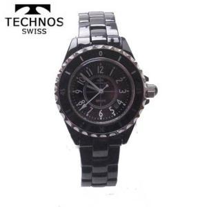 テクノス 腕時計 (TECHNOS)  女性用 T9830TB ブラックセラミックベルト付 2014秋新作モデル |yosii-bungu