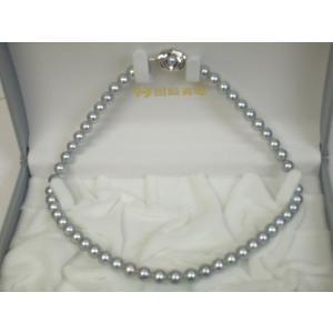 ( 世界のTASAKI ) タサキ 田崎真珠 黒真珠ネックレス 7.5mm〜8mm 専用ケース付き|yosii-bungu