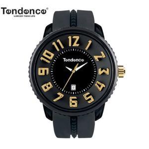 テンデンス (TENDENCE)  ラウンド ガリバー TG430011 ブラック×ゴールド 腕時計  道端ジェシカさん愛用モデル!【正規登録店】|yosii-bungu