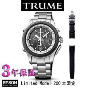 エプソン  TRUME  (ブラック)  ソーラー 腕時計( メンズ)     TR-MB5003 Limited Model 200本限定  レザーバンド付属|yosii-bungu