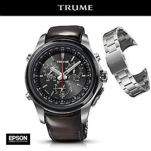 EPSON エプソン TRUME トゥルーム  TR-MB5004 (ステンレス・アドバンレザー レッド) ソーラー GPS衛星電波時計|yosii-bungu
