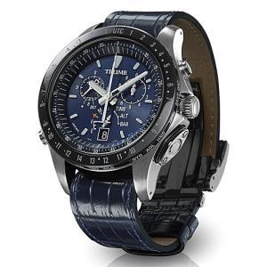 EPSON  エプソン TRUME トゥルーム TR-MB5007  紺色 レザーバンド  ソーラー 腕時計 (メンズ)  (2年間保証)|yosii-bungu|02