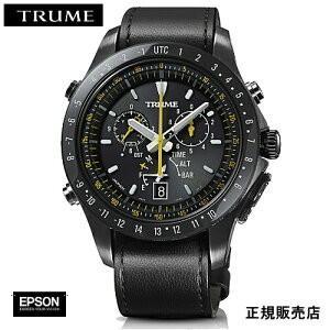 EPSON  エプソン TRUME トゥルーム TR-MB5008 ステンレス・レザーバンド  ソーラー 腕時計(メンズ)|yosii-bungu