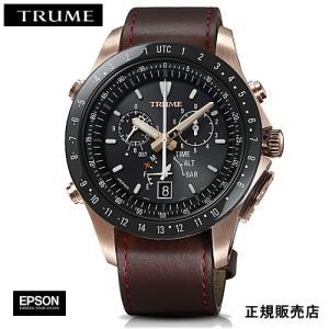 EPSON  エプソン TRUME トゥルーム TR-MB5009 ステンレス・レザーバンド  ソーラー 腕時計(メンズ)|yosii-bungu