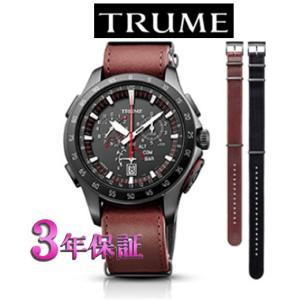 エプソン  TRUME TR-MB7005 チタン・レザーバンド  ソーラー 腕時計 (メンズ) ライトチャージ GPS衛星電波時計|yosii-bungu