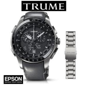 エプソン TRUME TR-MB7006 チタン・レザーバンド(ホーウィン社製クロムエクセル)(メタルバンド付属)|yosii-bungu