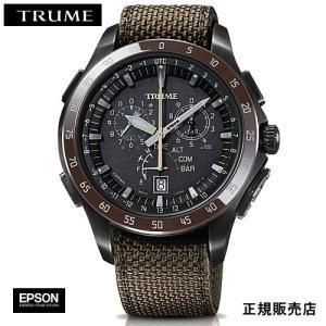 EPSON  エプソン TRUME トゥルーム TR-MB7009 チタン・ナイロンバンド  ソーラー 腕時計(メンズ)|yosii-bungu