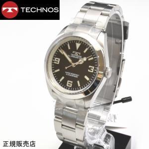 テクノス 腕時計 (TECHNOS) 10気圧防水 TSM208SB メンズ|yosii-bungu