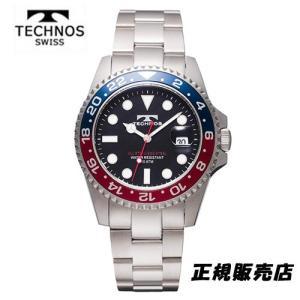 テクノス 腕時計 (TECHNOS) 10気圧防水 TSM412NB メンズ|yosii-bungu