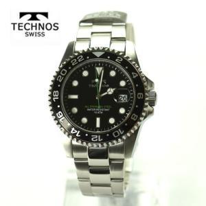 テクノス 腕時計 (TECHNOS) 10気圧防水 TSM412SB メンズ|yosii-bungu