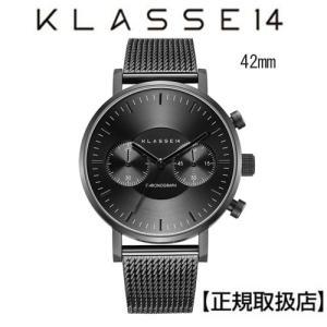 (今ならポイント最大37倍!)[クラス14]KLASSE14 腕時計 VO18CH010M  VOLARE CHRONOGRAPH DARK 42mm IP Black Mesh Band付 yosii-bungu