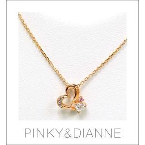 (今ならポイント最大37倍!)PINKY & DIANNE HERAT DISCO ピンキー&ダイアン ハート アンド ディスコ ネックレス シルバー ピンクゴールド SV(PGメッキ)|yosii-bungu