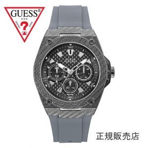 GUESS ゲス レガシー W1048G1 メンズ 45mmサイズ【正規品】グレーベルト yosii-bungu