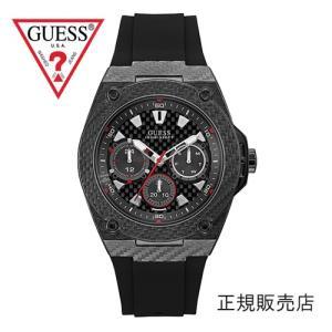 GUESS ゲス レガシー W1048G2 メンズ 45mmサイズ【正規品】ブラックベルト yosii-bungu