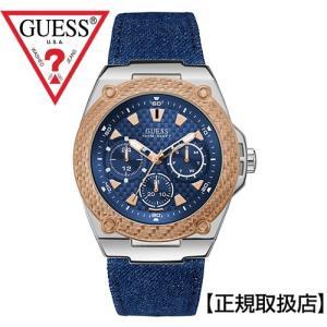 GUESS ゲス  メンズ 腕時計 LEGACY    W1058G1    (デニム+皮革ベルト) 【国内正規品】 yosii-bungu