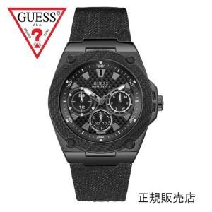 GUESS ゲス レガシー W1058G3 メンズ 45mmサイズ【正規品】ブラックデニムベルト yosii-bungu