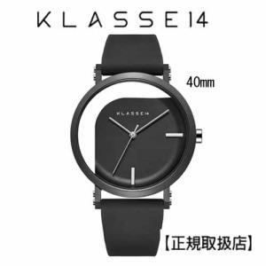 クラス14   腕時計 IMPERFECT ANGLE Black 40mm ブラックダイヤル (一部透過) WIM19BK011M ステンレスメッシュベルト付き|yosii-bungu