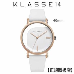 クラス14   KLASSE14  腕時計  IMPERFECT ANGLE White 40mm ホワイトダイヤル (一部透過) WIM19RG009M|yosii-bungu