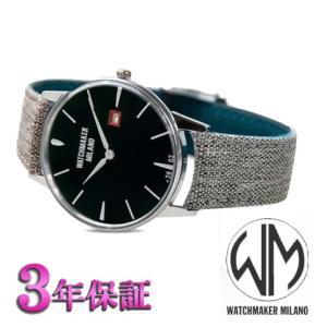 ウォッチメーカーミラノ   アンブロジオ  ブラック文字板 WM.00A.01 メンズ [正規輸入品]|yosii-bungu