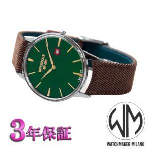 ウォッチメーカーミラノ   アンブロジオ  グリーン文字板 WM.00A.05 メンズ [正規輸入品]<|yosii-bungu