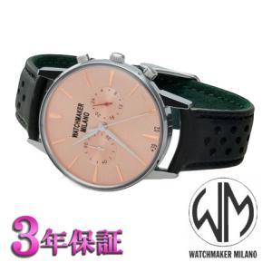 ウォッチメーカーミラノ バウーシャクロノクロノグラフ  ピンク文字板  WM.0BC.04 メンズ [正規輸入品]<|yosii-bungu
