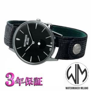 ウォッチメーカーミラノ  アンブロジオ  ブラック文字板 WM.AFL.01 メンズ [正規輸入品]|yosii-bungu