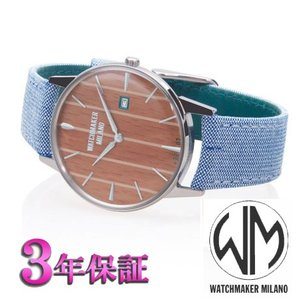 ウォッチメーカーミラノ  アンブロジオ 木目文字版  WM.AWE.02 メンズ [正規輸入品]|yosii-bungu