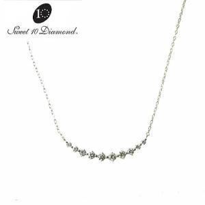 スイート10ダイヤモンド  K18WG ダイヤモンド ネックレス 0.48ct WMD1N007W450|yosii-bungu
