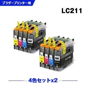 LC211Y(イエロー)単品 【ICチップ付】 【残量表示機能付】 インクカートリッジ 互換インク|yosimonoya