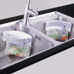 三角コーナー 水切りホルダー シンクコーナー キッチン 作業台 生ゴミ収納棚 ゴミ箱 コップ水切り ...