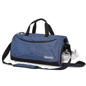 Teeoff Sports Gym Bag スポーツジムバッグ、ウェットポケット&シューズコンパートメントトラベルダッフルバッグ、男性用、女|you-mart-smile