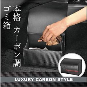 カーメイト 車用 ゴミ箱 ラグジュアリー カーボン調 ブラック DZ452 you-mart-smile