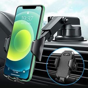 【2020再進化万能版】車載ホルダー VANMASS 3in1 片手操作 厚いケース対応 粘着ゲル吸盤&エアコン吹き出し口式兼用 スマホホル|you-mart-smile