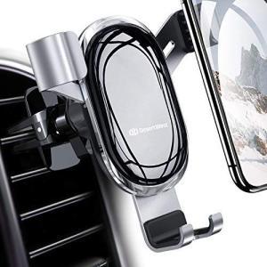 【2021進化版】DesertWest 車載ホルダー 重力式自動開閉 スマホホルダー 車 片手操作 手帳型ケース対応 エアコン吹き出し口用|you-mart-smile
