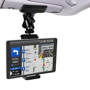 Zenoplige 車載 ホルダー スマホ タブレット クリップ しっかり固定 携帯 スタンド サンバイザー 後部座席 使用可能 Andro|you-mart-smile