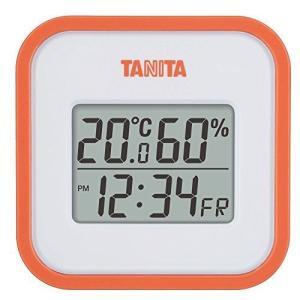 タニタ 温湿度計 温度 湿度 デジタル 壁掛け 時計付き 卓上 マグネット オレンジ TT-558 OR you-mart-smile