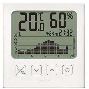 タニタ 温湿度計 温度 湿度 デジタル グラフ付 ホワイト TT-580 WH 温湿度の変化を確認 you-mart-smile