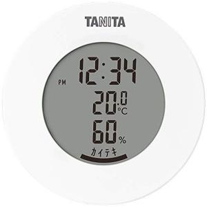 タニタ 温湿度計 温度 湿度 デジタル 時計付き 卓上 マグネット ホワイト TT-585 WH you-mart-smile