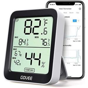 デジタル温湿度計 温度計 湿度計 Govee 3段階の快適度目安表示 LCD大画面 アプリコントロール 最高最低温湿度表示 置掛兼用 高精度 you-mart-smile