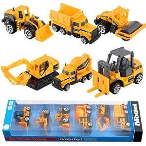 BenRich ミニカー 工事車両 6点セット はたらく車 建設車両 おもちゃ モデルカー 建設現場 ダンプカー ショベルカー フォークリフ|you-mart-smile