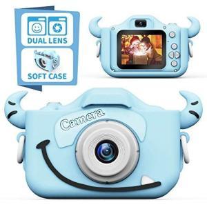 子供用カメラ,TONDOZENキッズカメラ トイカメラ 2000万画素 1080P HD 高画質動画カメラ キッズデジカメ USB充電 デュ|you-mart-smile
