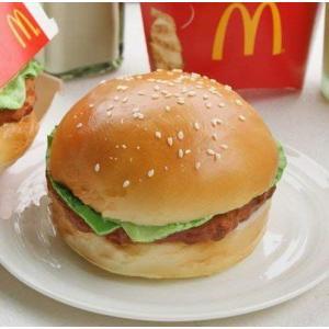 食べないで下さい!どこから見ても本物みたい リアルサイズ ハンバーガー型 リストレスト キーボードクッション|you-mart-smile