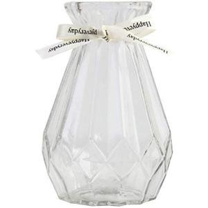CHURACY 花瓶 おしゃれ ガラス ミニ フラワーベース 小さい 可愛い 花びん かびん 花器 (透明)|you-mart-smile