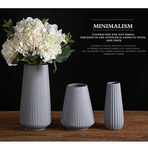 フラワーベース-花瓶-陶器-和風-花器-ブラック-北欧-つや消し面-し大 かびん 手作り フラワーベース ホワイト フラワーベース 陶器 Y|you-mart-smile